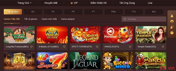 Game bài trực tuyến tại K8 mang đến sự trải nghiệm phong phú cho người chơi
