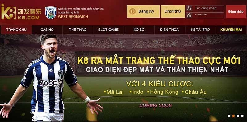 Cá cược bóng đá online tại K8